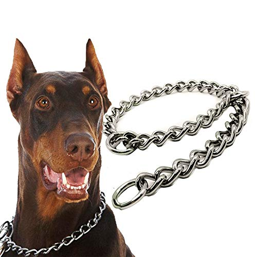 Gold Dog Chain - Practical Stainless Steel Choke Chain Dog Training Collars Snake Choker Pet - Gold Charm Pack Necklace Choke Crystal Blank Collars Cuban Collar Leash Titanium Outfit Plaid Chai