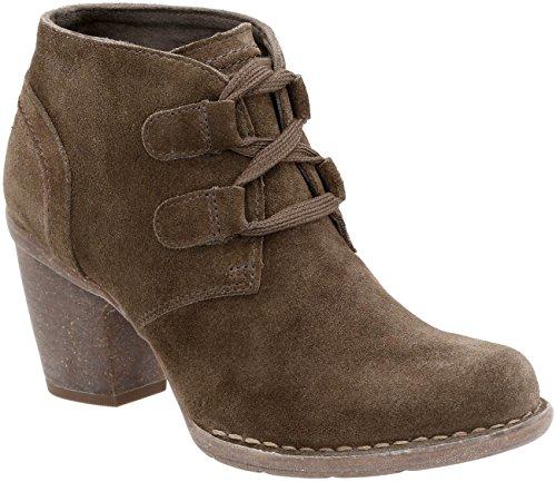 CLARKS Women's Carleta Lyon Boot, Khaki Suede, 8 W - Clark Women For Boots Shoes