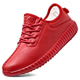 red 39 thirty - KONHILL Lightweight Shoes SportsFashionSneaker Casual Breathable Athletic Running Shoes For Unisex Couple Women, Red, 39