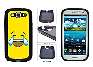 Bright Yellow Laughing Crying Smiley Face TPU RUBBER SILICONE Phone Case Back Cover Samsung Galaxy S3 I9300