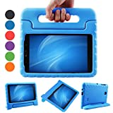 XKTTSUEERCRR Samsung Galaxy Tab 4 8.0 Kids Case, Shockproof Lightweight Super Protective Convertible Handle Stand Cover Case for Samsung Galaxy Tab 4 8.0 Inch Tablet (SM-T330 SM-T331 SM-T335) - Blue