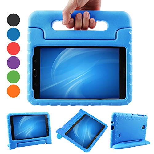 XKTTSUEERCRR Samsung Galaxy Tab 4 8.0 Kids Case, Shockproof Lightweight Super Protective Convertible Handle Stand Cover Case for Samsung Galaxy Tab 4 8.0 Inch Tablet (SM-T330 SM-T331 SM-T335) - Blue ()