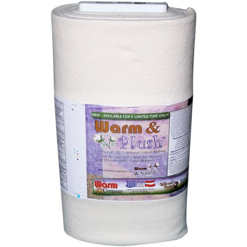 - WARM COMPANY Warm and Plush Cotton Batting by The Yard, 45-Inch by 10-Yard, Crib