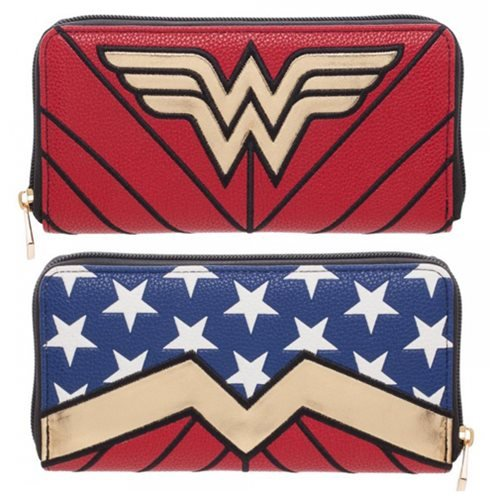 DC Comics Wonder Woman Logo Zip Around Ladies Wallet