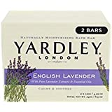 Yardley London English Lavender Naturally Moisturizing Bath Bar, 4.25 ounce, 2 Count