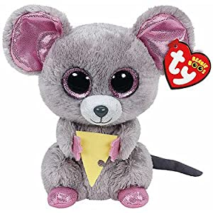 TY Beanie Boo Plush - Squeaker the Mouse 6-Inch - 51GUtLEA55L - TY Beanie Boo Plush – Squeaker the Mouse 6-Inch