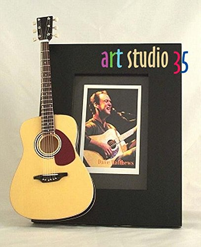 DAVE MATTHEWS Miniature Guitar Photo Frame Martin Dave Matthews Electric Guitar