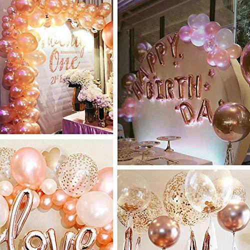 Alila Pink Rose Gold Confetti Balloons Great Decorations Wedding Bridal ShowerEngagement