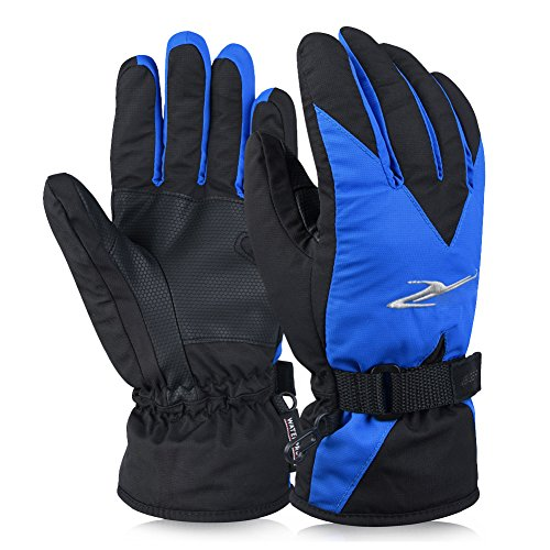Vbiger Ski Gloves Snow Mittens Waterproof Winter Warm Cycling Gloves,...