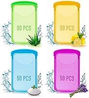 Visit the B BLOOMOAK Store 200PCS Mini Portable Travel Soap Paper Sheets, Disposable Hand Washing Soap Sheet,