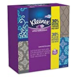 Kleenex 25830CT Ultra Soft Facial Tissue, 3Ply, White, 8 3/4 x 4 1/2, 4 Boxes per Pack (Case of 12 Packs)
