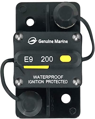 200 Amp Circuit Breaker with Manual Reset, High Amp, Switchable, Waterproof for RV Ship Boat Marine 200A