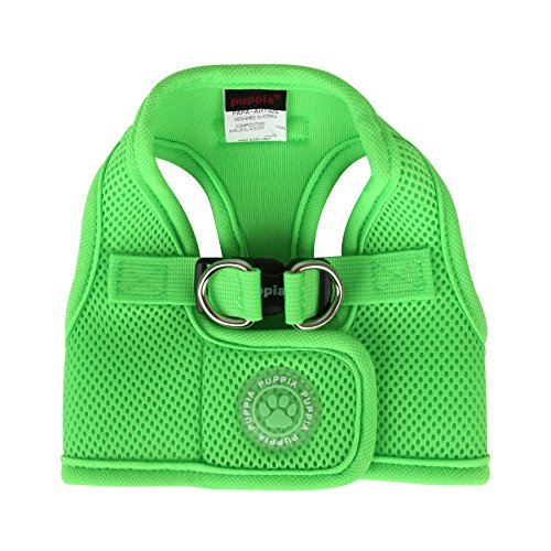 Puppia Neon Soft Vest Harness B, X-Large, Green