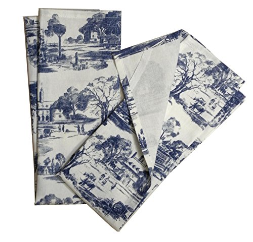 Toile French Country Dish Towel,Set of 2, (Country Dish Towel)