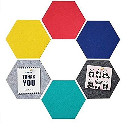 Amazon.com: UniLiGis - Tablero de anuncios hexagonal ...