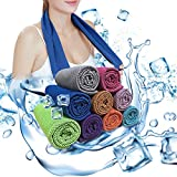Soar Sports Gym Cooling Towel, Soft Breathable Ice Towel, Microfiber Towel, Chilling Neck Wrap for Sports, Gym, Fitness, Running, Hiking, Yoga, Travel, Camping, Workout, More 4 Pack