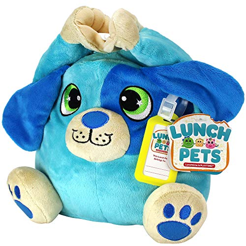 Lunch Pets Insulated Kids Lunch Box - As Seen on TV Plush Animal and Lunch Box Combination - HungryPup