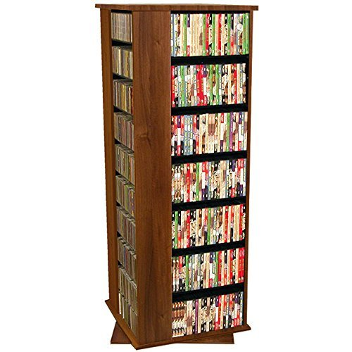 Venture Horizon Revolving Media Tower- Grande 1600 - Cabinet Dvd Storage Walnut