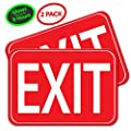 Aluminum Photoluminescent EXIT Sign | Glows for Up to 10 Hours | Ultra Reflective and Well Lit