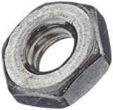 18-8 Stainless Steel Small Pattern Machine Screw Hex Nut, Plain Finish, #4-40 Thread Size, 3/16