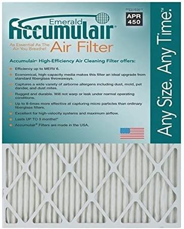 Polyester Wire-Backed Pleated Air Filter 16 Nom Height x 30 Nom Width x 1 Nom Depth 8 Pack Made in USA