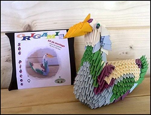 Kit Creazione Origami 3d anatra femmina STEDEN FAMILY