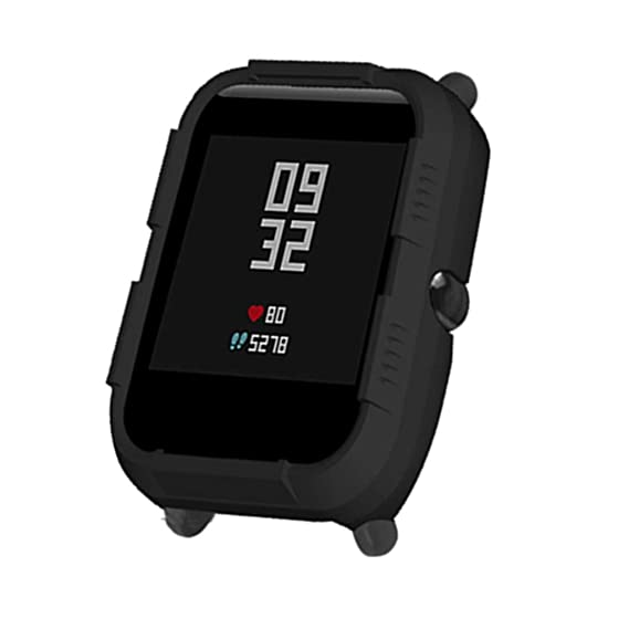 QuickZ Protector para xiaomi huami amazfit bip Youth,PC Caso Cubierta Funda de Protección para xiaomi huami amazfit bip smartwatch Reloj Fundas ...