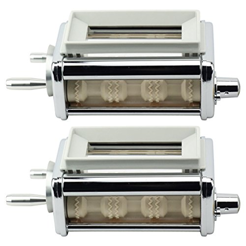 Ravioli Maker Attachment - 2 Pack KRAV Ravioli Maker and Cutter Attachment for KitchenAid Stand Mixers