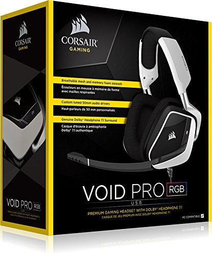 Auriculares Gaming Corsair Void Pro Dolby 7.1 | Blanco