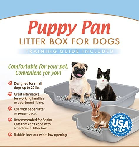 PuppyGoHere Dog Litter Pan Litter Box Training. Training Guide Included 3  Sizes. Choose The Right Size for Your Dog. Great for Senior Cats with ...