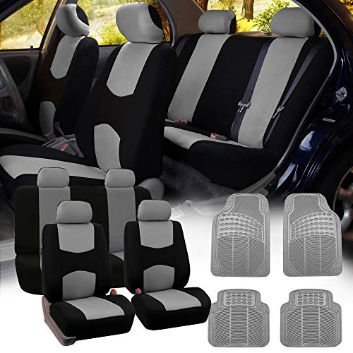 FH Group FB051115 + R11305 Combo Set: Multi-Functional Flat Cloth Seat Covers - Full Set