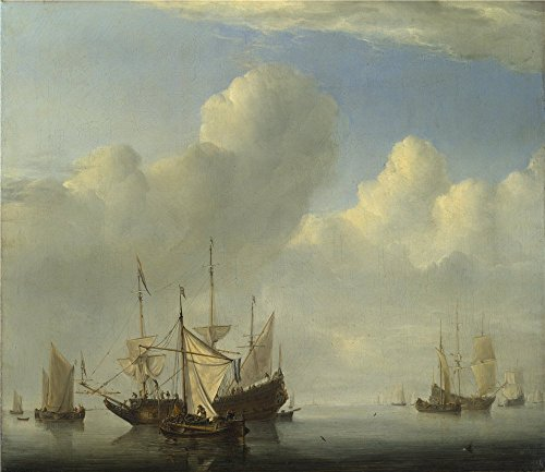 [High Quality Polyster Canvas ,the High Resolution Art Decorative Prints On Canvas Of Oil Painting 'Willem Van De Velde A Dutch Ship Coming To Anchor ', 18 X 21 Inch / 46 X 53 Cm Is Best For Bedroom Decoration And Home Gallery Art And] (Donald Duck Costume Makeup)