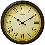 Ajanta Oreva Ajanta Quartz Wooden Finished Plastic Round Shape Wall Clock