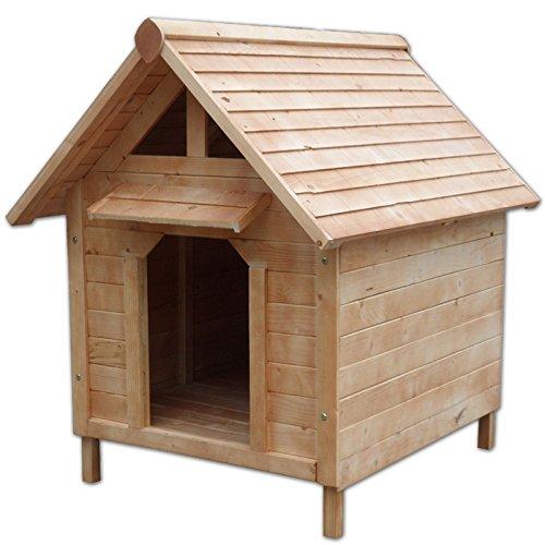 Hundehütte - wetterfestes Hundehaus für Hunde (103 x 83 x 97 cm)