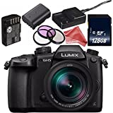 Panasonic Lumix DC-GH5 Mirrorless Digital Camera with 12-60mm 2.8-4 Lens + Lithium Ion Battery + 128GB SDXC Class 10 Memory Card + DigitalAndMore Ultra Gentle Microfiber Cloth