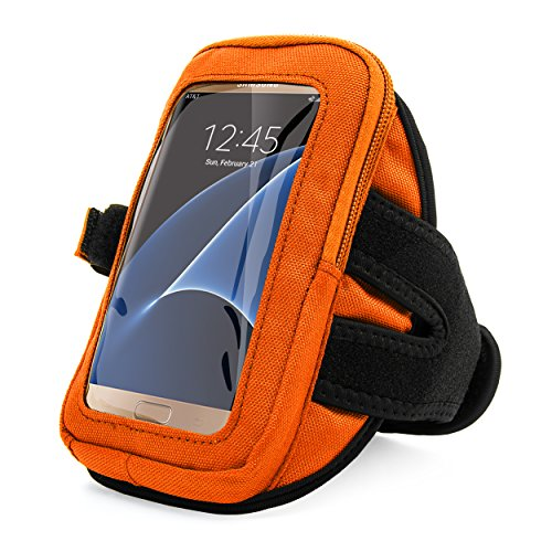VanGoddy Premium Zippered Sport Case Cover Gym Running Armband with removable Strap for iPhone Samsung LG Moto Lumia Sony HTC BLU ZTE Huawei Sharp Fit 4.7 5 5.1 5.2 5.5 inch Ios Android Windows Phone by Vangoddy