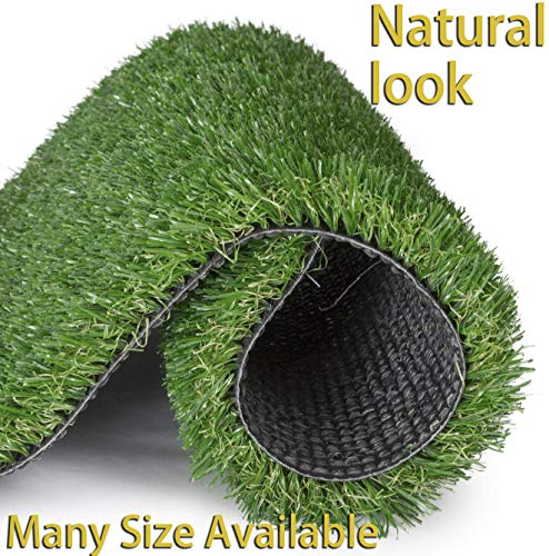 GT LIFE Artificial Grass for Dogs Synthetic Turf Artificial Lawn Rug with Drainage Holes&Rubber Backing, Blade Height 1.2inch Indoor/Outdoor Landscape(4'x6',Autumn Lawn)