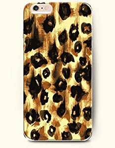 Painting Art Black And Chocolate Cheetah Print - Animal Print - Phone Cover for Apple iPhone 6 Plus ( 5.5 inches ) - OOFIT Authentic iPhone Case