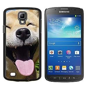 Feliz Shiba Inu perro canina- Metal de aluminio y de plástico duro Caja del teléfono - Negro - Samsung i9295 Galaxy S4 Active / i537 (NOT S4)