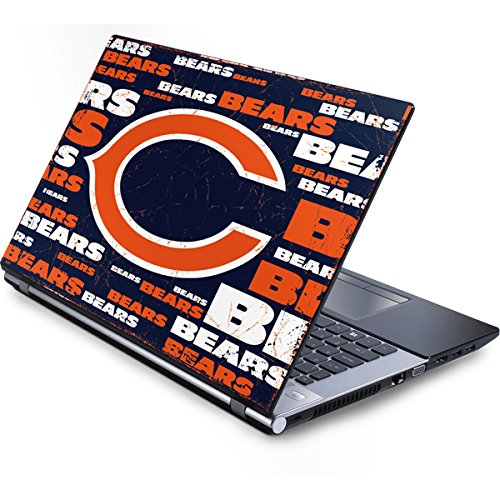 (Skinit Chicago Bears Blast Generic 15in Laptop (13.7in X 9.5in) Skin - Officially Licensed NFL Laptop Decal - Ultra Thin, Lightweight Vinyl Decal)