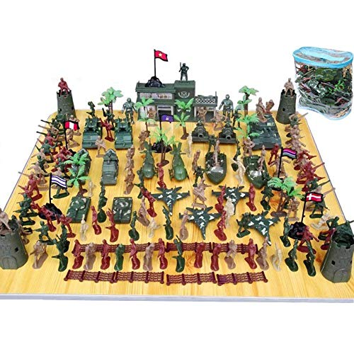 Total Soldier Toys - 146 PCS Army Soldiers, Battle Group
