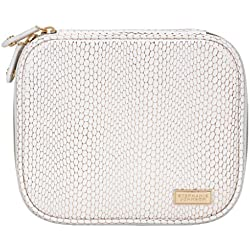 Stephanie Johnson Havana Sherine Large Jewelry Case, White