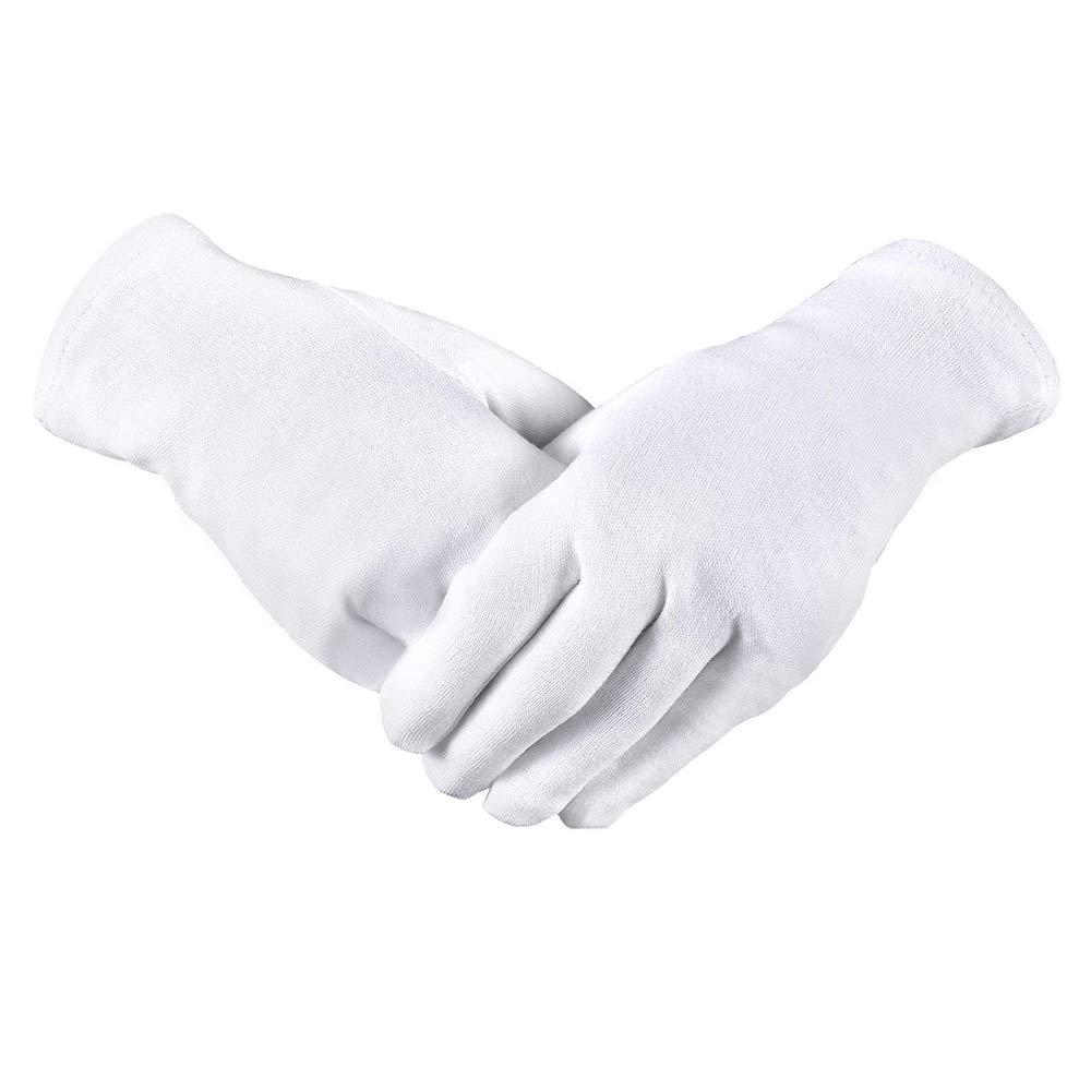 Guantes de algod/ón para Trabajo Ligero y Suave 8 Pares aoory antiest/áticos para inspecci/ón de Joyas