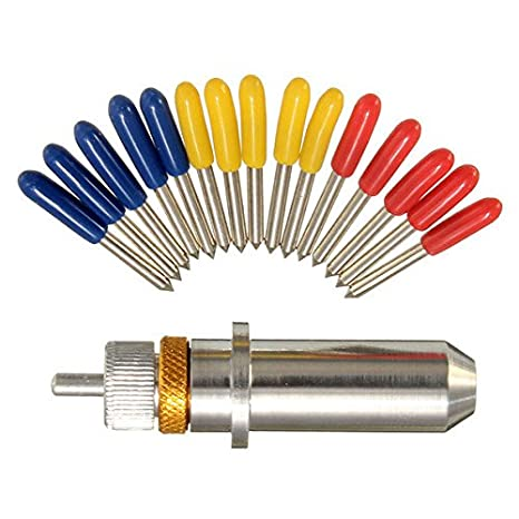 Saver 15pcs 30/45/60 cuchilla grado de vinilo para Roland plotter de corte con el sostenedor: Amazon.es: Electrónica