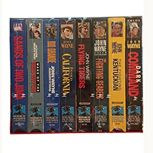 The John Wayne Larger than Life Collection: The Fighting Kentuckian / Dark Command / In Old California / Wake of the Red Witch / The Fighting Seabees / Flying Tigers / Sands of Iwo Jima / Rio Grande [VHS] by Republic Pictures