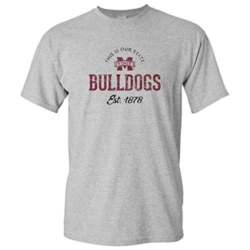 - UGP Campus Apparel AS03 - Mississippi State Bulldogs Established Arch Logo T-Shirt - Large - Sport Grey