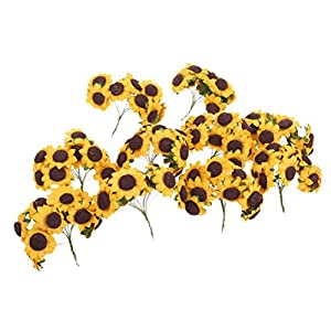 100pcs Artificial Flower Sunflower Bouquet for Home Wedding Decoration 5