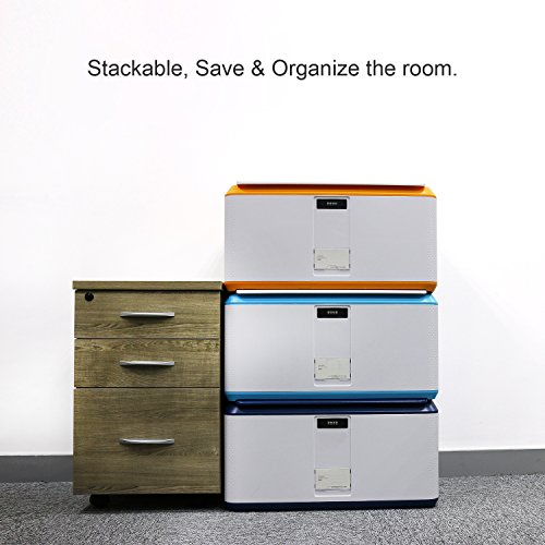 EVERTOP Extra Large Deck Box for Home, Office, Car, White with Code Lock (A-Orange) by EVERTOP (Image #8)