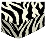 SheetWorld Extra Deep Fitted Portable Mini Crib Sheet - Zebra - Made In USA