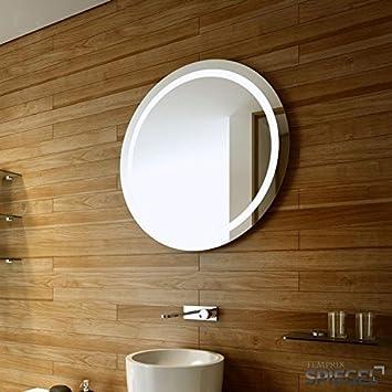 Mercury Round LED Illuminated Bathroom Mirror Wall Diameter 70 Cm